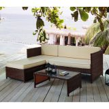 Sofá 3 Lugares com Chaise e Mesa de Centro MLM-210031