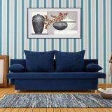 Sofá-Cama Caseira Microfibra Azul