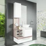 Armário Ravenna Para Banheiro Sem Cuba Branco Com Nogal e Griss