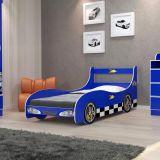 Cama Infantil Carro Rally Azul