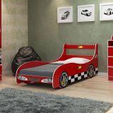 Cama Infantil Carro Rally Vermelho