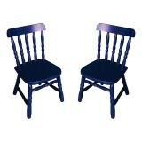 Conjunto 2 Cadeiras Infantil Country Azul
