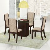 Conjunto de Mesa Com 4 Cadeiras Tabaco & Juta Gretta Viero