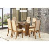 Conjunto de Mesa Com 6 Cadeiras Avelã & Juta Darling Viero