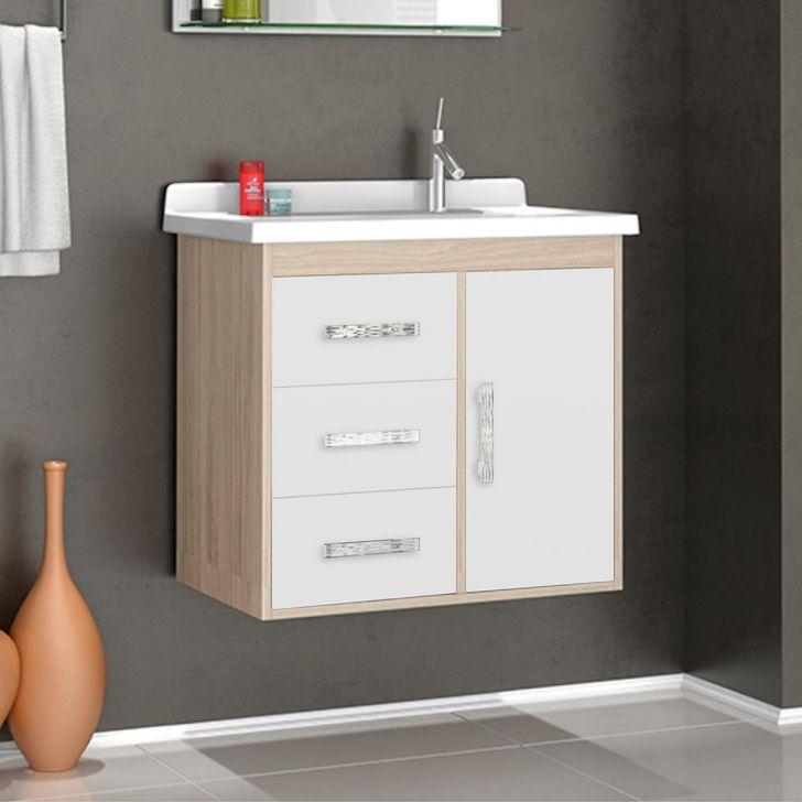 Gabinete para Banheiro VTEC Delta com 1 Porta e 1 Prateleira  Conjuntos DESC # Pia De Banheiro Ponto Frio