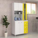 Kit de Cozinha Veneza 5 Portas Branco e Amarelo