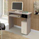 Mesa De Computador Dalian Plus Bianco Tx Fosco e Preto Mavaular