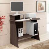 Mesa De Computador Munique Plus Wengué Tx e Bianco Tx Fosco Mavaular