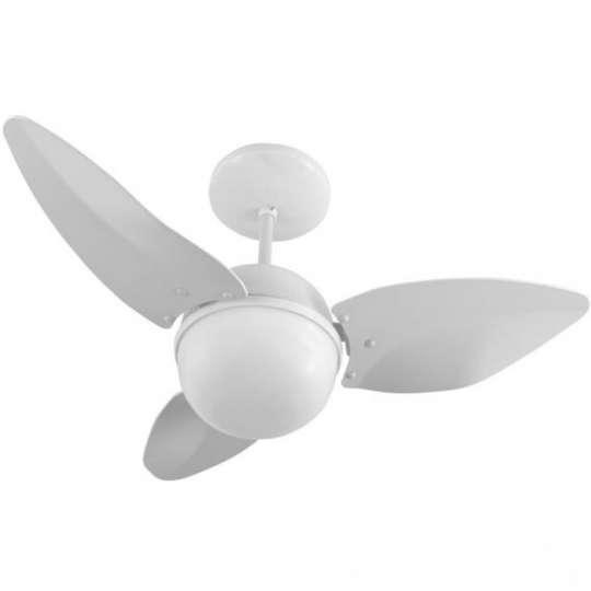 Ventilador de Teto Controle Remoto Smart 220V Branco