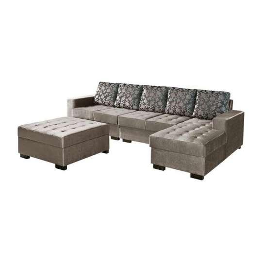 Conjunto sof de canto 5 lugares com chaise direito for Sofa com chaise 5 lugares