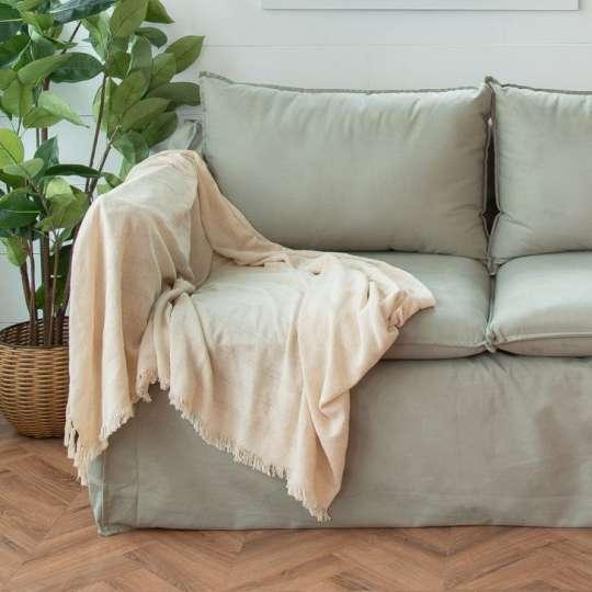 Manta para sofa branca