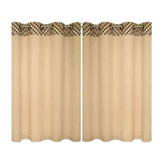 Cortina para cozinha barcelona 1 50m x 2 60m retr marrom - Comprar cortinas barcelona ...
