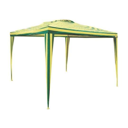 Gazebo Listrado Verde e Amarelo 3x3
