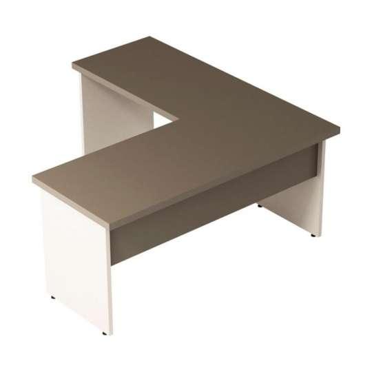 Mesa escrit rio em l prius argila hunter 135cm for Mesa escritorio l