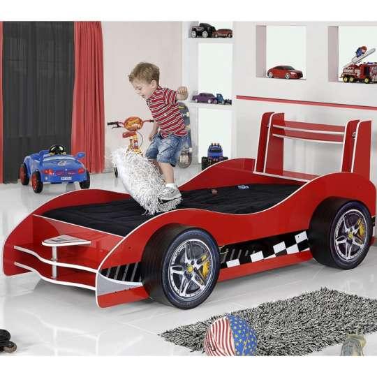 Cama infantil carro flash plus vermelho - Cama coche infantil ...