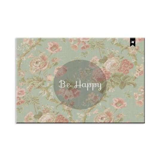 Capacho Be Happy Verde 60x40 cm Haus For Fun