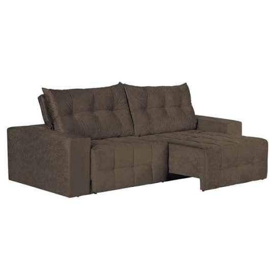 Sof 4 lugares retr til e reclin vel floren a suede for Sofa 4 lugares retratil e reclinavel caravaggio suede amassado marrom