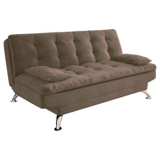 Sof cama casal premium suede castanho for Sofa cama 1 persona