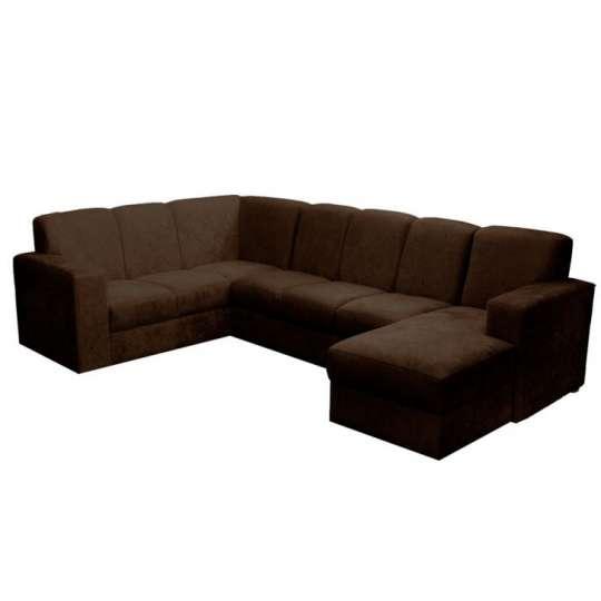 sof de canto 6 lugares com chaise astor suede marrom