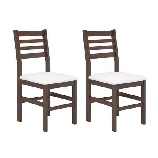 Conjunto 2 Cadeiras Cristina Castanho e Branco