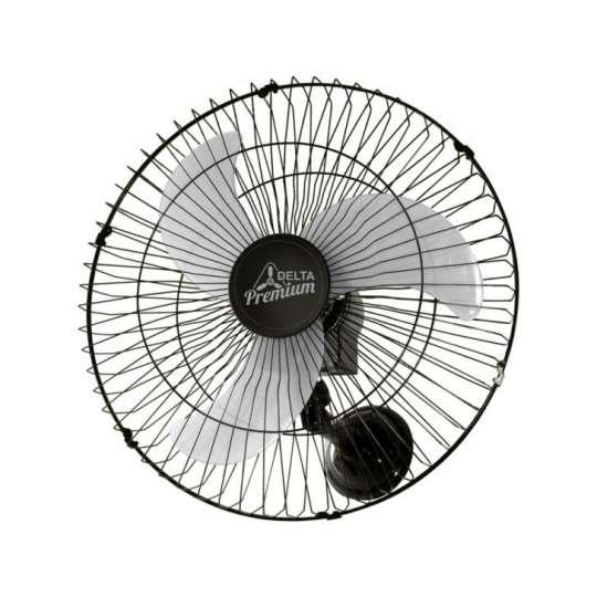 Ventilador Parede 60cm Bivolt Preto 60 Fios Premium Venti-Delta