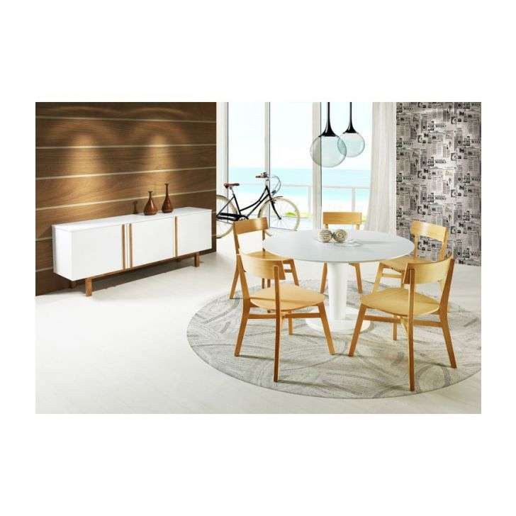 Conjunto de Mesa e Cadeira Vitra 6 Cadeiras Artefama