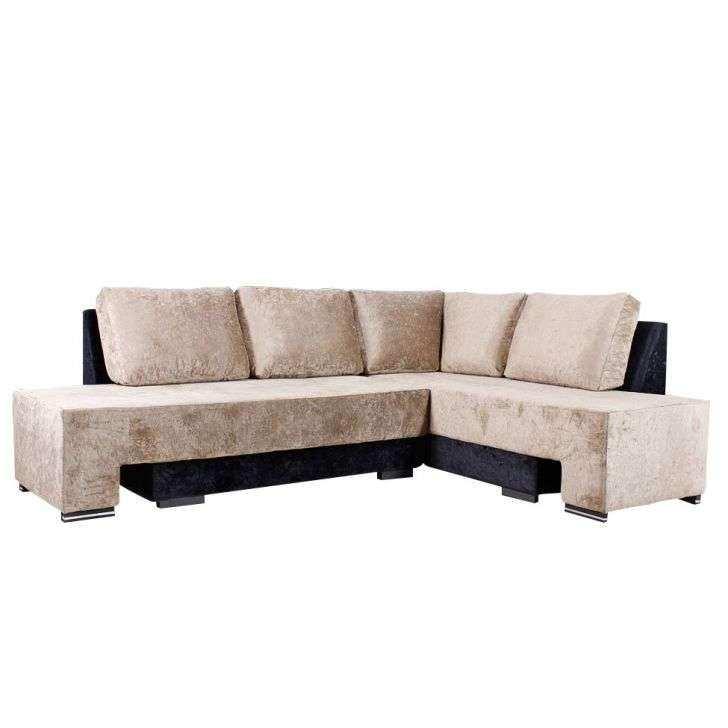 Conjunto de sof de canto 6 lugares sharon suede marrom e for Sofa de canto 6 lugares