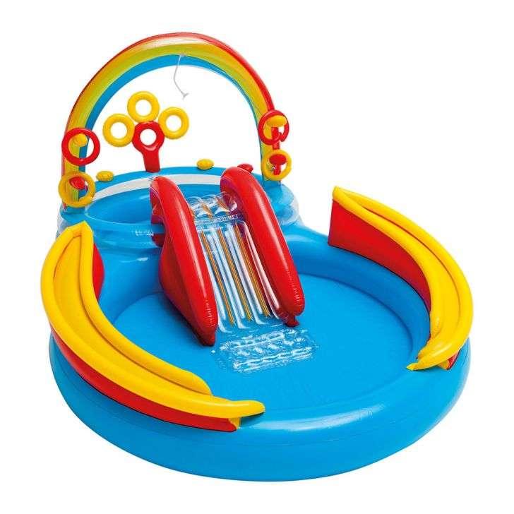 Piscina infl vel a ideal para o seu beb mobly for Piscina inflavel arco iris intex playground com escorregador