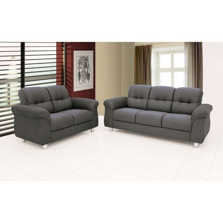 Conjunto sof hannover 2 e 3 lugares suede cinza m collection for Sofa outlet hannover
