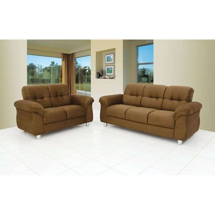 Conjunto sof hannover 2 e 3 lugares suede marrom claro m for Sofa outlet hannover