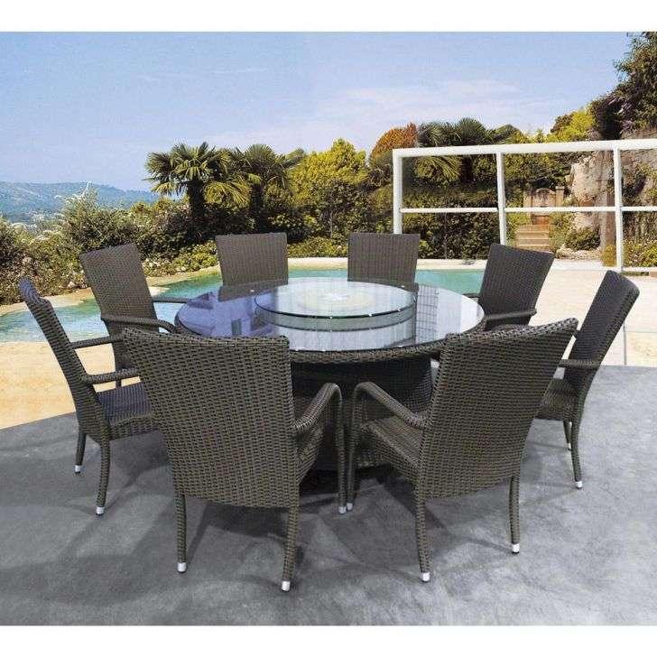 Conjunto de Mesa e 6 Cadeiras para Jardim Marrom M Collection