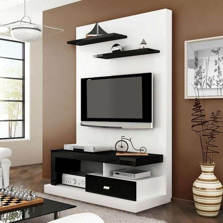 Estante para tv buzios branco preto multivis o - Estante para televisor ...