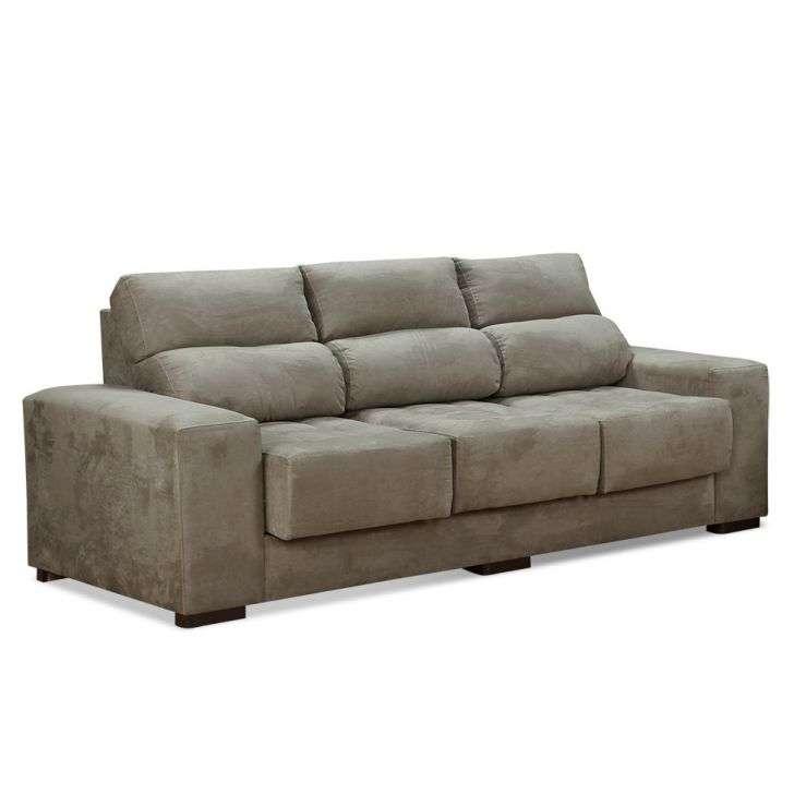 Sof fluence retr til 3 lugares suede bege ricatteli - Modelos de sofas clasicos ...