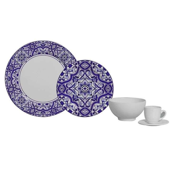 Aparelho de Jantar e Chá Aveiro 20 Peças - Scalla