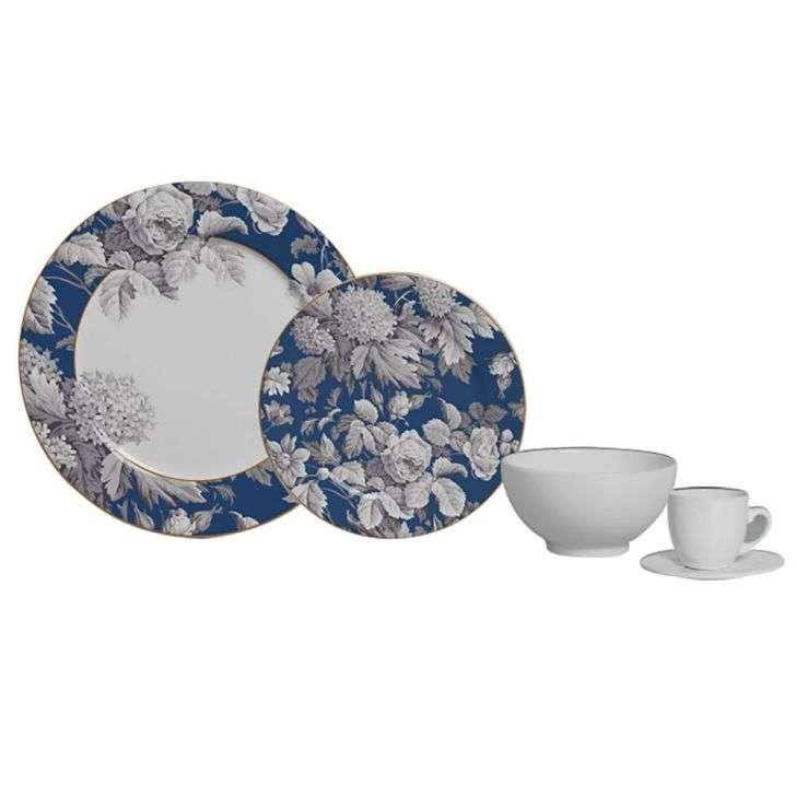 Aparelho de Jantar e Chá Cristine 20 Peças - Scalla