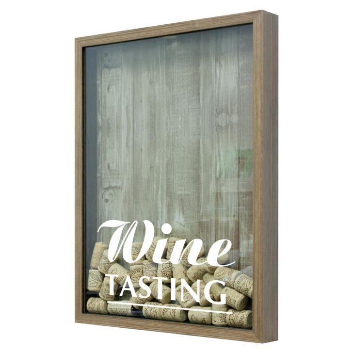 Quadro Porta Rolhas De Vinho Wine Tasting 22X27Cm Natural em até 1 vezes sem juros! Devolução grátis em até 30 dias.