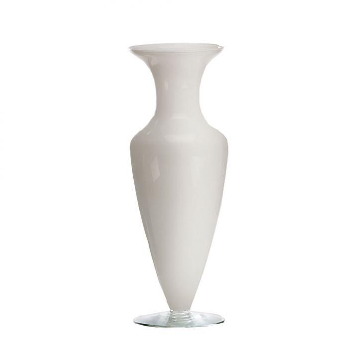 Vaso Henrietta 24x24cm Branco Luvidarte