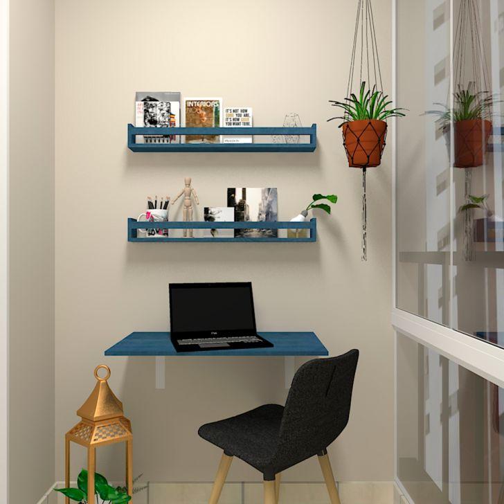 Mesa Para Notebook Dobrável Kitcubos Azul 80 Cm