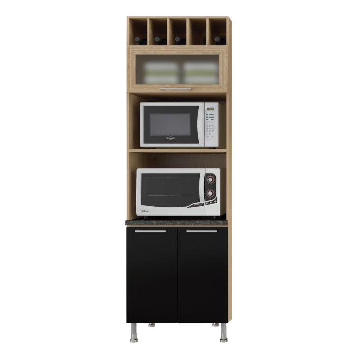 paneleiro-torre-quente-dois-fornos-70-cook-aspen-ii-carvalho-e-preto