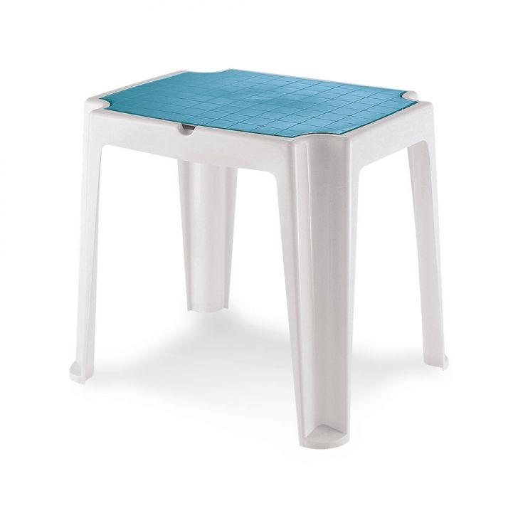 Mesa infantil Versa com tampa branca e azul Cod: 7898187046309