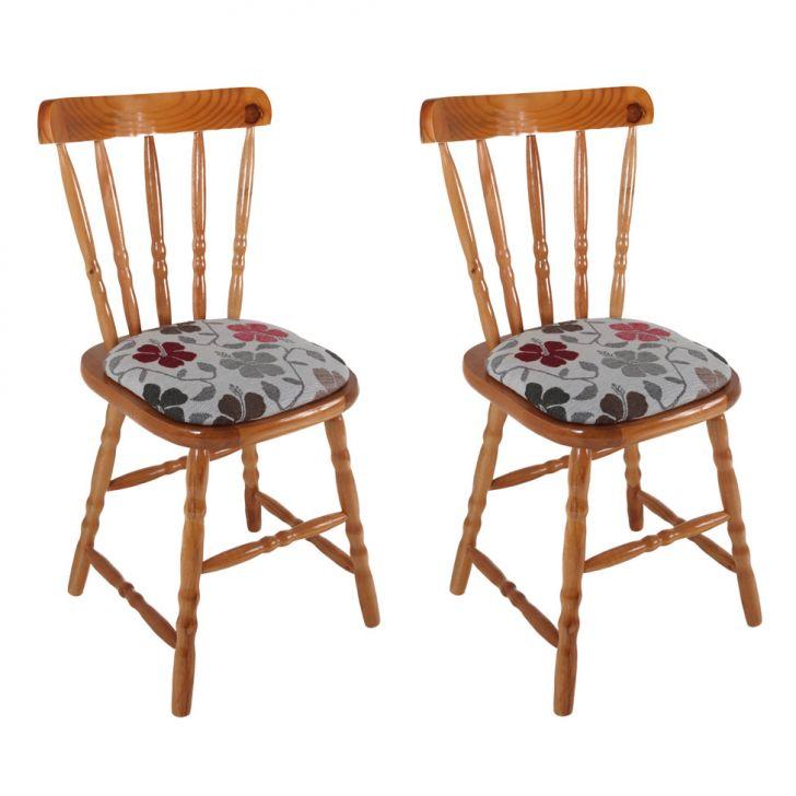 Conjunto Com 2 Cadeiras Dalas Floral I Mel