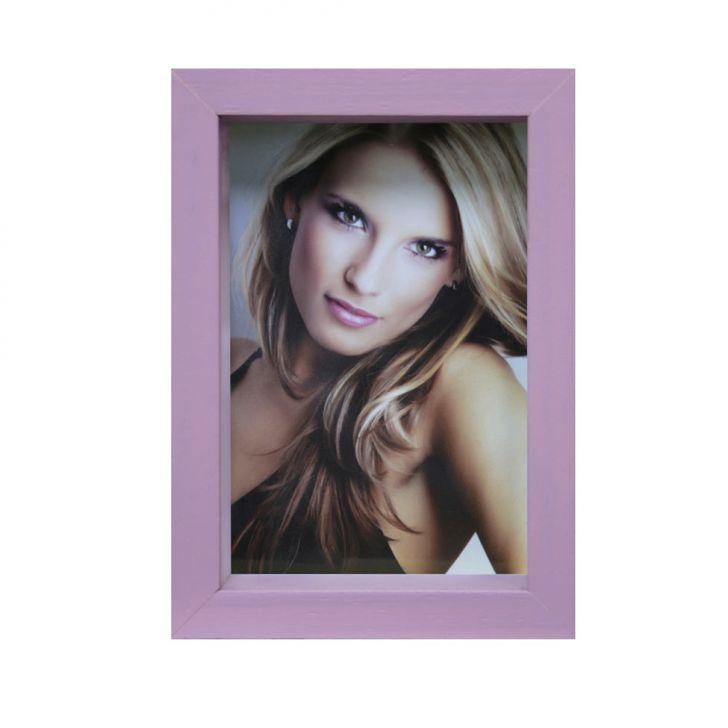Porta-retrato Caixa Liso Lilás 15x21cm