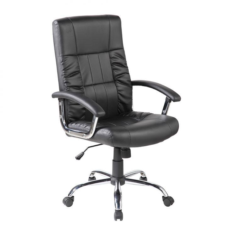 Cadeira De Escritório Presidente Giratória Office Plus Preta
