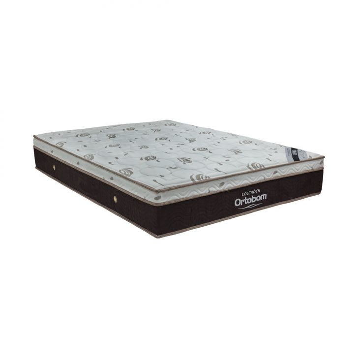 Colchão Queen Molas Ensacada Sleep King (32x158x198) Marrom