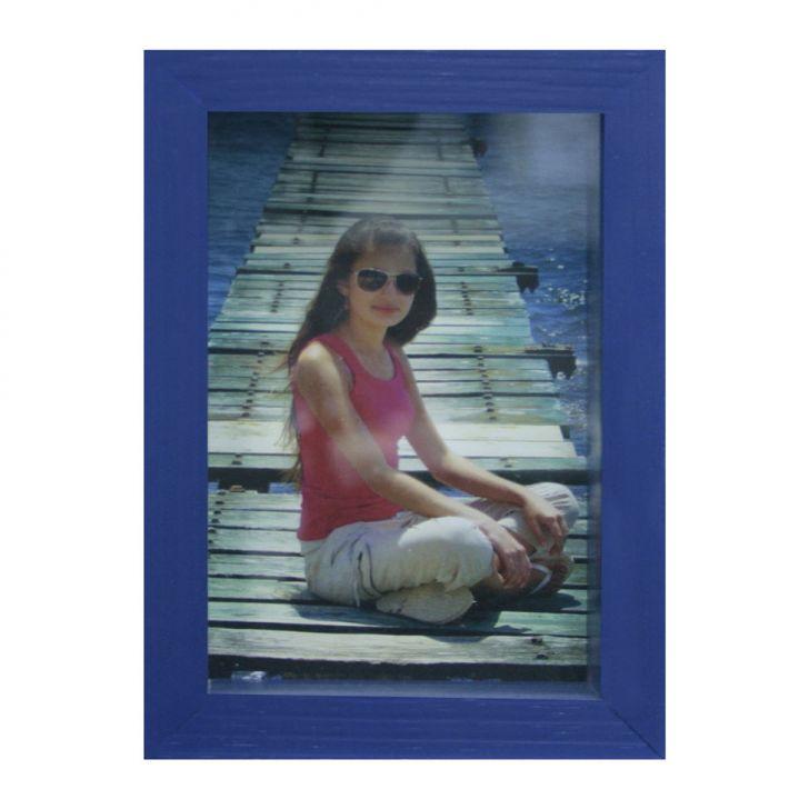Porta-retrato Caixa Color Azul 15x21cm