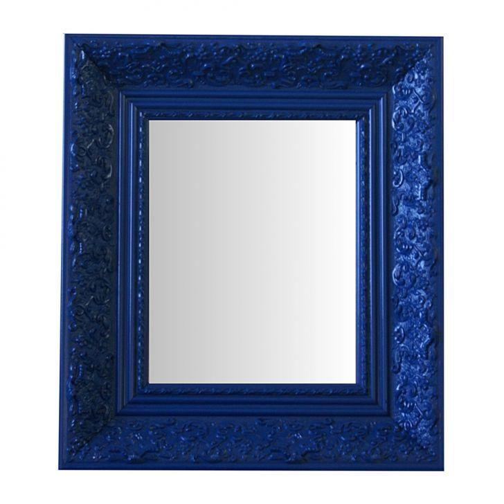 Espelho Moldura Rococó Fundo 16221 Azul Art Shop