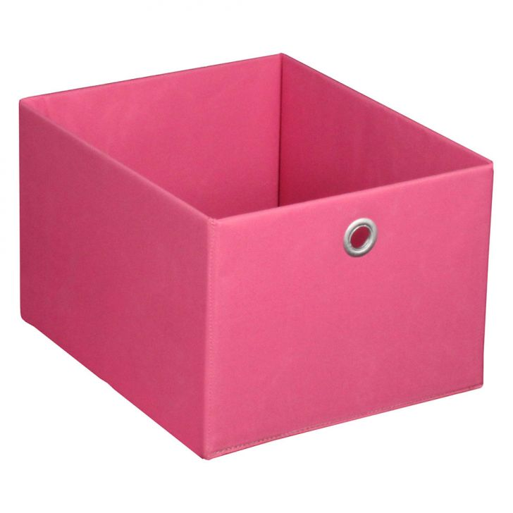 Caixa Organizadora Retangular Média Rosa 20x27x32 Cm Acasa Móveis