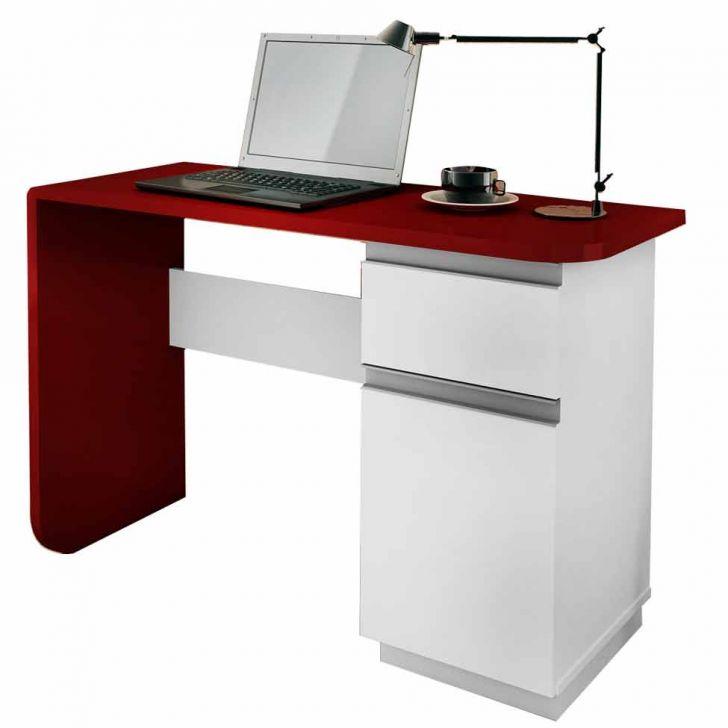 Escrivaninha Office Click Branco & Vermelho