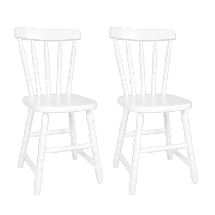 Conjunto 2 Cadeiras De Cozinha Dalas Branca