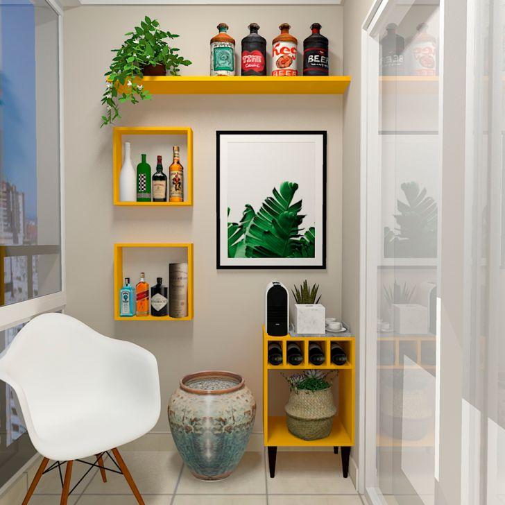 Prateleira Flandres Amarela